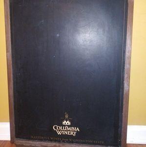 Chàlk Board for restaurant/winery